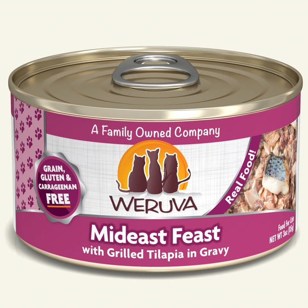 Weruva - Classic Cat - Mideast Feast with Grilled Tilapia in Gravy (Wet Cat Food)