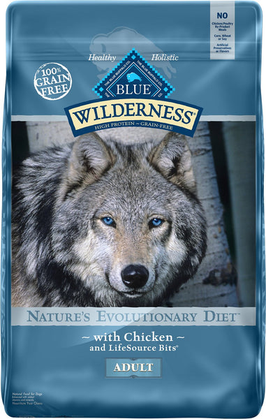 Blue Buffalo - Blue Wilderness - Chicken Recipe Grain-Free (Adult Dry Dog Food) - ARMOR THE POOCH