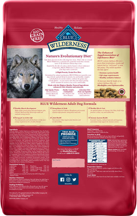 Blue Buffalo - Blue Wilderness - Salmon Recipe Grain-Free (Adult Dry Dog Food)