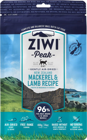 ZiwiPeak - Air-Dried Mackerel & Lamb Recipe for Cats