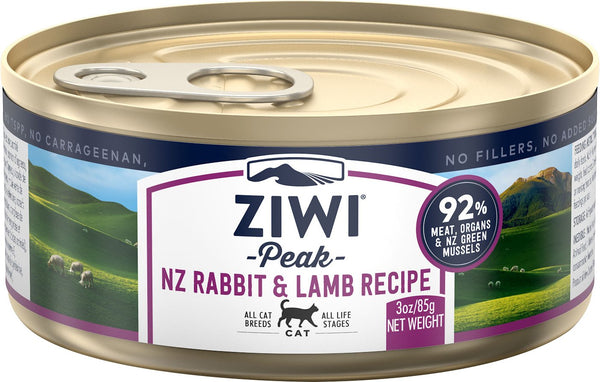 ZiwiPeak - Wet Rabbit & Lamb Recipe for Cats
