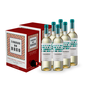 Pack: 2 Bag in Box Terras de Baco Tinto 2018 + 6 Conventual DOC Branco 2016