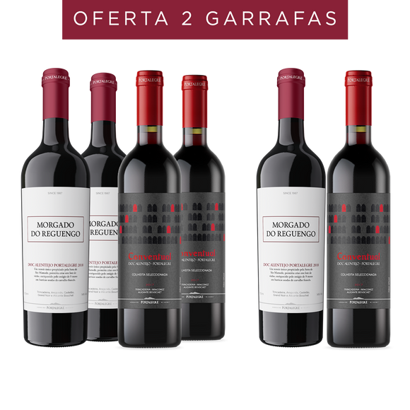 Pack: 3 Morgado do Reguengo 2018 + 3 Conventual CS Tinto 2017 (Oferta de 2 Garrafas)
