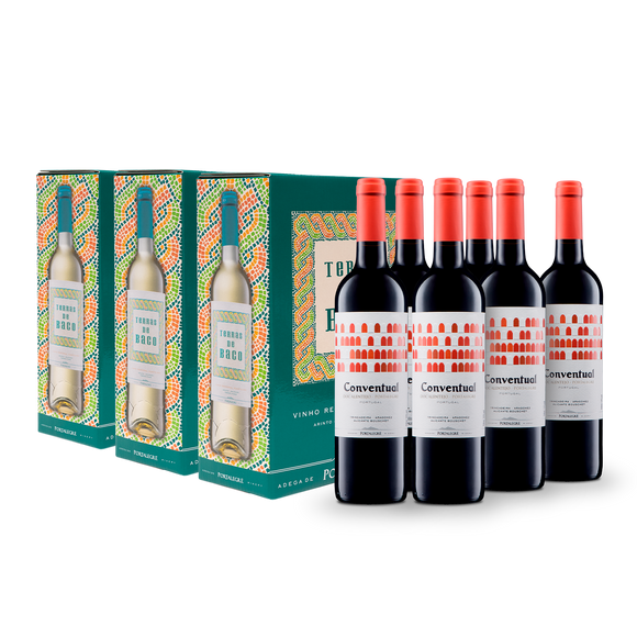 6 Conventual Tinto 2018 + 3 Bag in Box (3L) Terras de Baco Branco 2018
