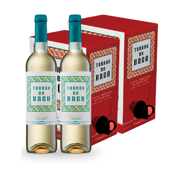 Pack: 2 Bag In Box 5L Terras de Baco Tinto + 2 Terras de Baco Branco