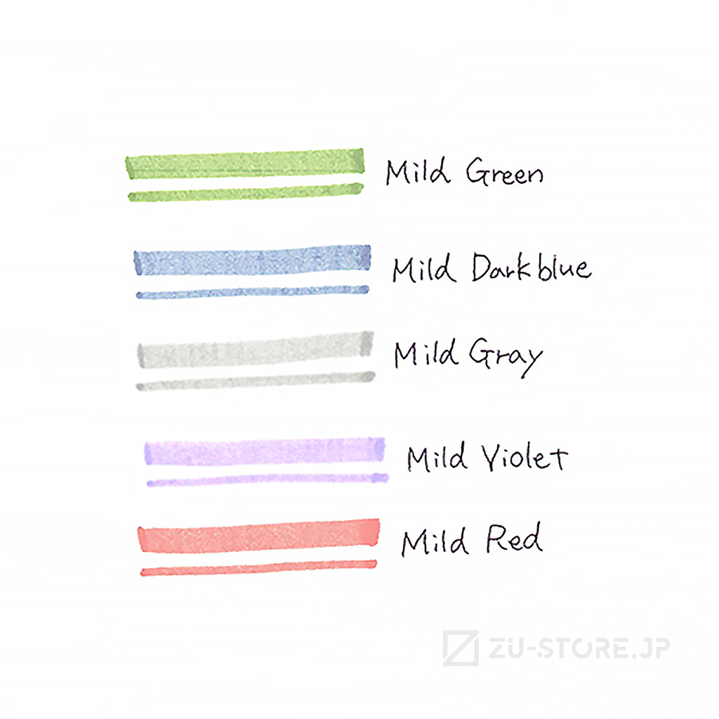 Zebra MILD LINER Cool & Refined 5 Color Set