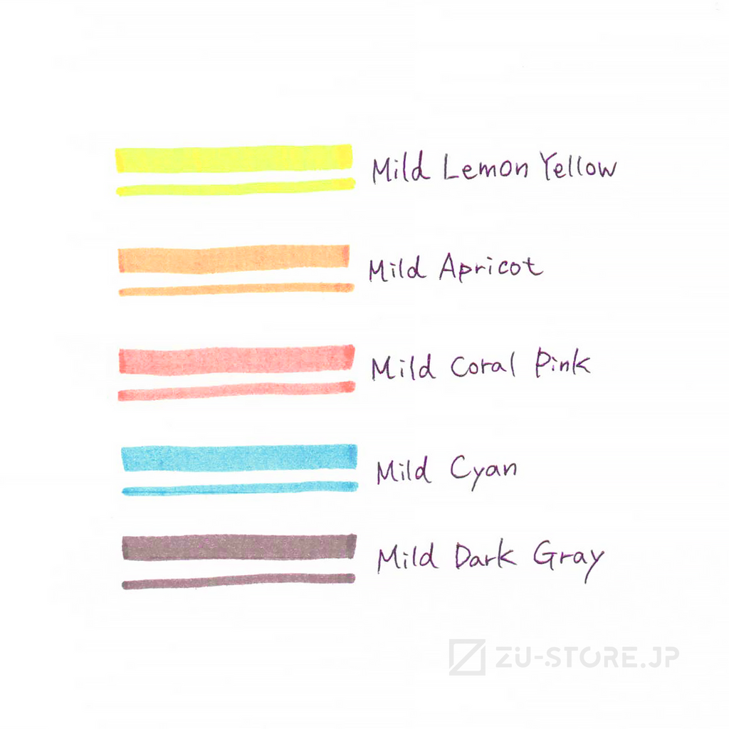 Zebra MILD LINER Friendly 5 Color Set