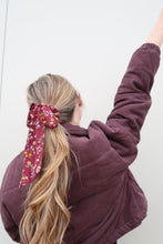 Load image into Gallery viewer, Burgundy Blooms Hair Scarf & Scrunchie
