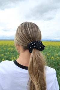 Pop it, Lock it, Polka Dot it Hair Scrunchie