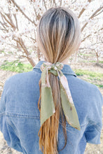 Load image into Gallery viewer, Sweet & Simple Sage Green Hair Scarf & Scrunchie
