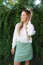 Load image into Gallery viewer, Oh Sunny Day Sage Skirt