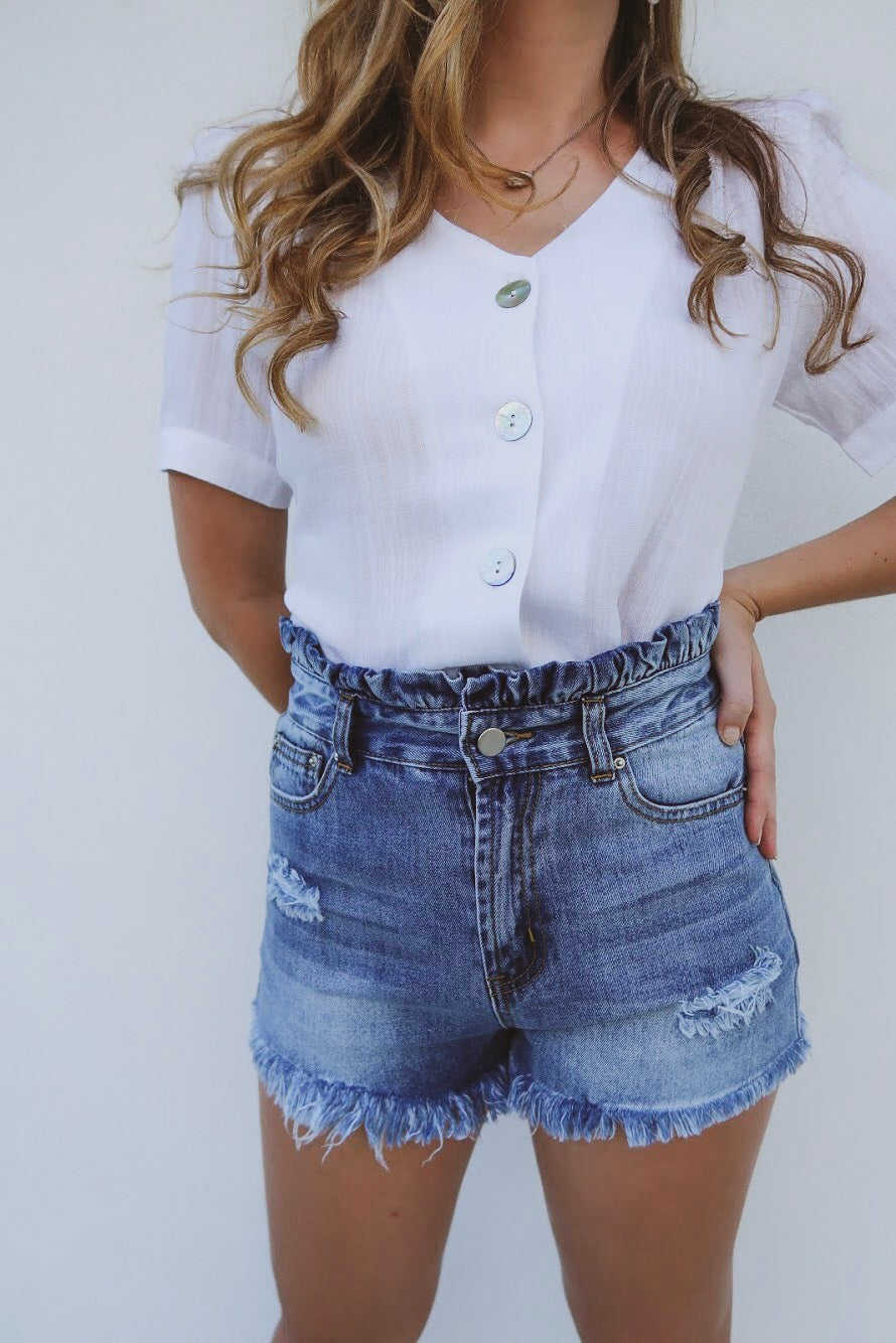 Here Comes the Sun Denim Shorts