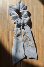 Load image into Gallery viewer, Refreshed & Renewed Light Blue Hair Scarf & Scrunchie