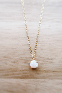 Opal Obsessed Dainty Drop Necklace