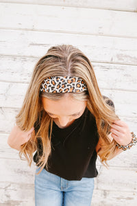 Lovin' the Leopard Hair Scarf & Scrunchie
