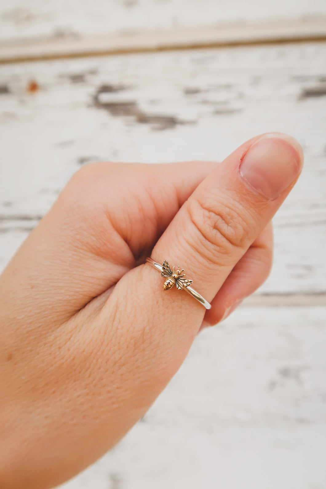 Bee a Honey Two-Tone Ring