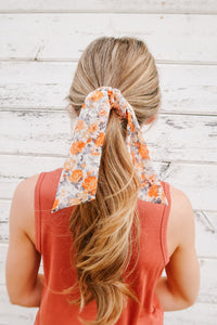 Sweet Clementine Hair Scarf & Scrunchie