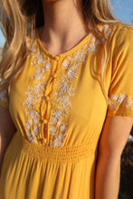 Load image into Gallery viewer, Love at First Sight Gold Maxi Dress