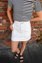 Load image into Gallery viewer, Dress It Up White Denim Skirt