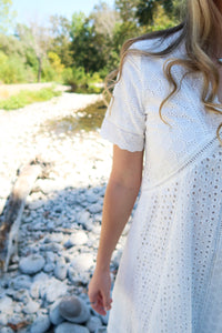 Nothin' Like You White Lace Eyelet Dress