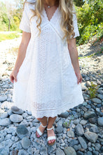 Load image into Gallery viewer, Nothin' Like You White Lace Eyelet Dress