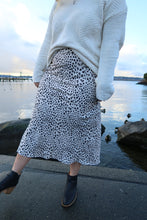 Load image into Gallery viewer, Timeless & True Ivory Leopard Midi Skirt