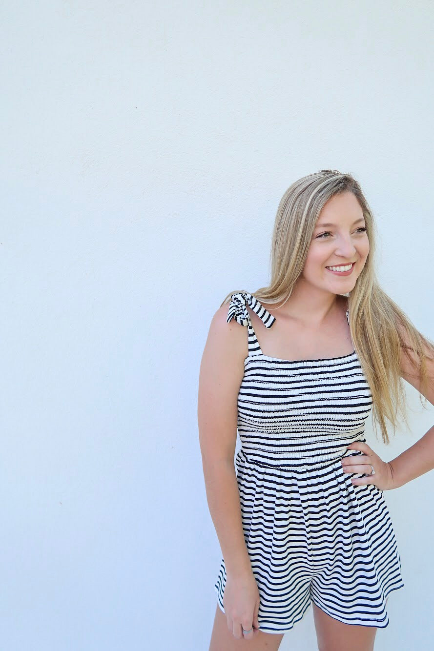 Vacay Vibes Striped Romper