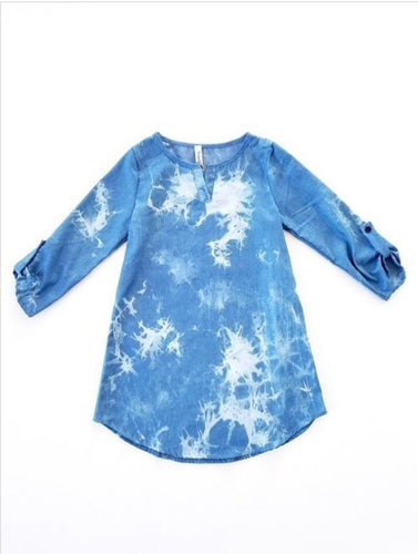 Tie dye denim tunic/dress