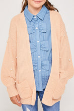 Load image into Gallery viewer, Girls Cardigan sweater