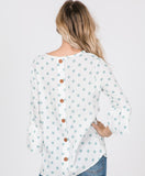 Polka Dot Top with Button Up Back