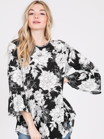 Soft Woven Floral Printed Top