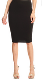 Solid Colored Pencil Skirt-Multiple Colors