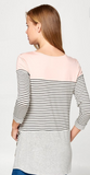 Color Block and Pin Stripe Mix Match Top