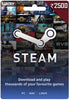 Steam card 2500 INR