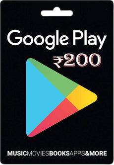 Google Play Mobile Games Cash Card 200 INR