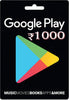 Google Play Mobile Games Cash Card 1000 INR