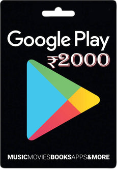 Google Play Mobile Games Cash Card 2000 INR
