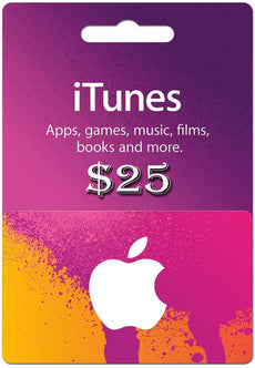 I tunes Gift cards 25 USD