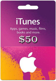 I tunes Gift cards 50 USD