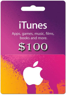 I tunes Gift cards 100 USD