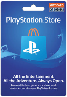 PSN Wallet TOP UP 1500 INR