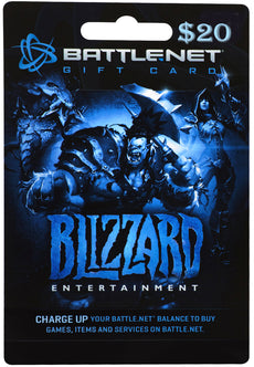 $20 Battle.net Store Gift Card Balance - Blizzard Entertainment