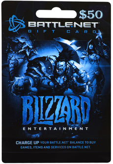 $50 Battle.net Store Gift Card Balance- Blizzard Entertainment