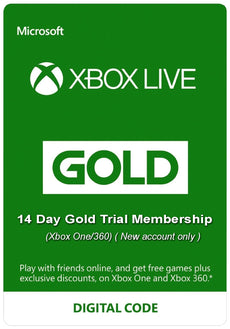14 Day Xbox Live Gold Trial Membership (Xbox One/360) ( New account only )