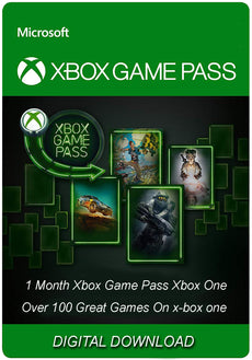 1 Month Xbox Game Pass Xbox One (New Account only )