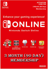 Nintendo Switch Online 3 Month (90 Day) Membership Switch