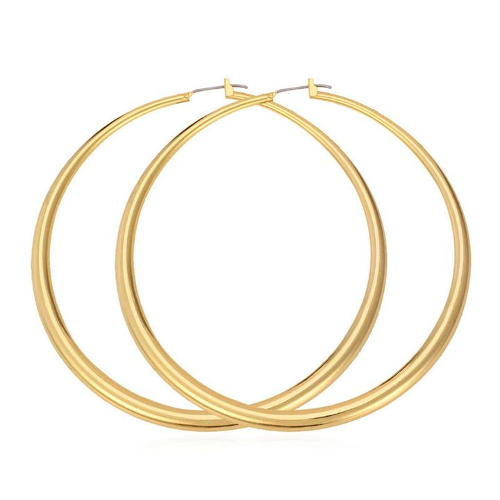 Large Gold Silver Hoop Earrings