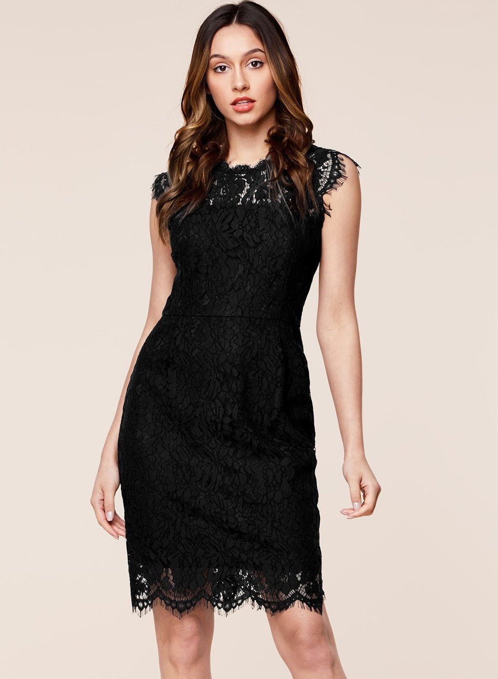 Floral Lace Sleeveless Cocktail Party Dress