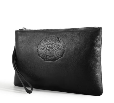 Designer Clutch Full Grain Genuine Leather