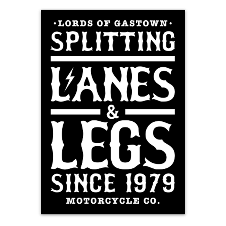 Splitting Lanes Sticker